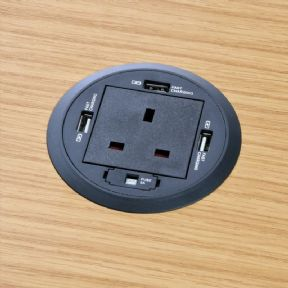 P-Grom/80 - In-Desk Power Grommet with USB Chargers